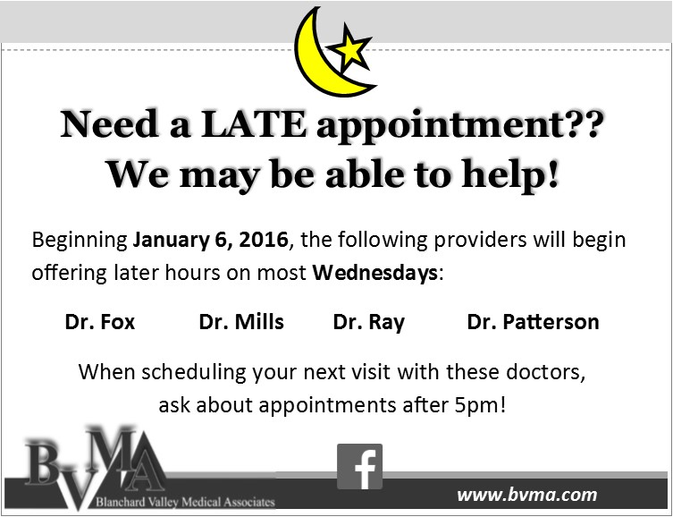 late appointments